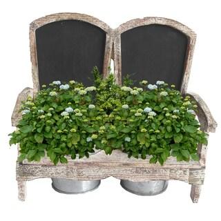 Wooden Adirondack Chair Planter