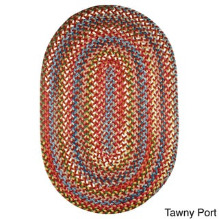 Rhody Rug Charisma Indoor and Outdoor Oval Braided Rug by Rhody Rug (4'x6')