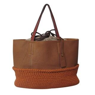 Amerileather Multi-fabric Indra Handbag