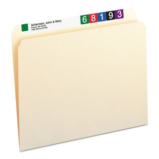 Smead Manila Straight Cut One-Ply Top Tab Letter File Folders (Box of 100)