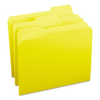 Smead Yellow 1/3 Cut Top Tab Letter File Folders (Box of 100)