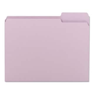 Smead Lavender 1/3 Cut Top Tab Letter File Folders (Box of 100)