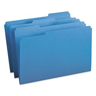 Smead Blue 1/3 Cut Top Tab Legal File Folders (Box of 100)