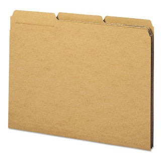 Smead Kraft 1/3 Cut Right Reinforced Top Tab Letter File Folders (Box of 50)