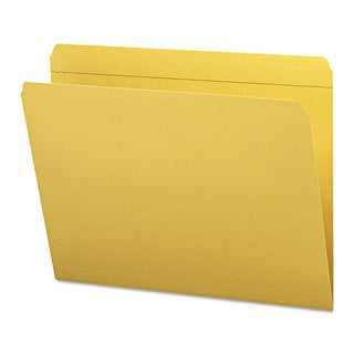 Smead Goldenrod Straight Cut Reinforced Top Tab Letter File Folders (Box of 100)