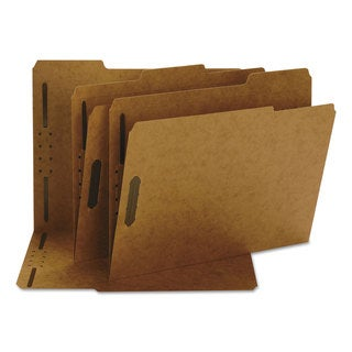 Smead Two Fasteners 1/3 Cut Top Tab Letter Brown 11 Point Kraft Folders (Box of 50)