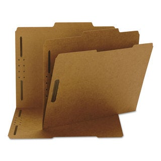 Smead Two Fasteners 2/5 Cut Top Tab Letter Brown 11 Point Kraft Folders (Box of 50)