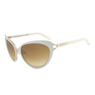 Tom Ford TF Daria FT0321-32F White and Gold Cateye Sunglasses
