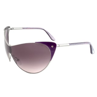 Tom Ford Vanda FT0364-80Z Gunmetal and Purple Cateye Sunglasses