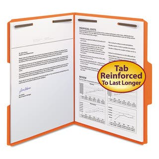 Smead Orange Two Fasteners 1/3 Cut Assorted Top Tabs, Letter Folders (Box of 50)|https://ak1.ostkcdn.com/images/products/10433024/P17530758.jpg?impolicy=medium