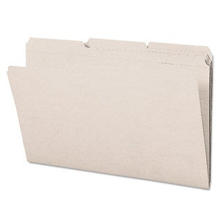 Smead Gray 1/3 Cut Reinforced Top Tab Legal File Folders (Box of 100)