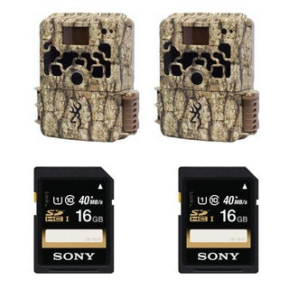 (2) Browning DARK OPS HD Sub Micro Trail Camera + (2) Sony 16GB Memory Cards