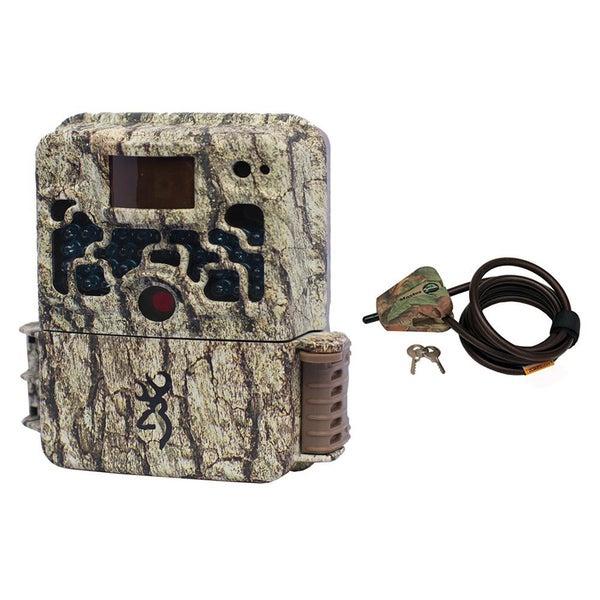 Browning STRIKE FORCE HD Sub Micro Trail Camera (10MP) BTC5HD + Master Lock Python Cable (Camo)