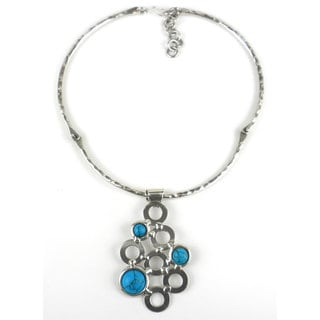 Turquoise Bubble Silverplated Necklace (South Africa)