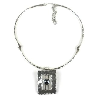Hematite Grill Silverplated Necklace (South Africa)