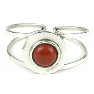 Silverplated Jasper in the Round Cuff (South Africa)