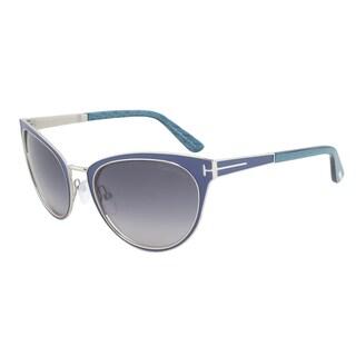 Tom Ford Nina FT0373-86Z Royal Blue Cateye Sunglasses