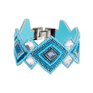 Saachi Handmade Beaded Turquoise Bracelet (India)