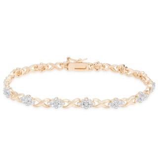 Finesque 1/4 carat TDW Diamond XO Bracelet