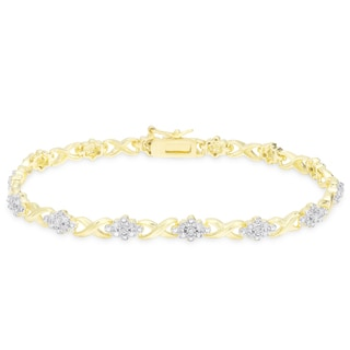 Finesque 1/4 carat TDW Diamond XO Bracelet