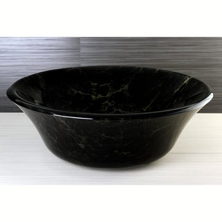 Night Sky Tempered Glass Vessel Sink