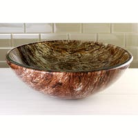 Brown Gorge Tempered Glass Vessel Sink