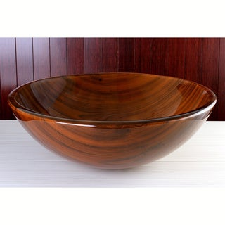 Red Valley Tempered Glass Vessel Sink