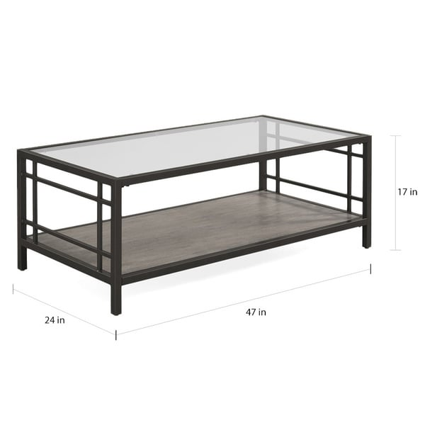 Alice Wood/ Glass/ Metal Coffee Table   Free Shipping Today   Overstock.com    17530805