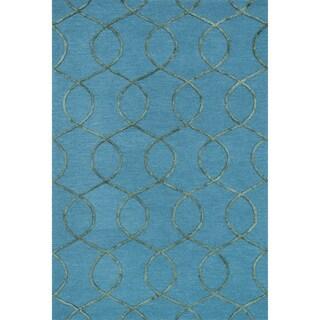 Hand-hooked Carolyn Ocean/ Green Rug (2'3 x 3'9)