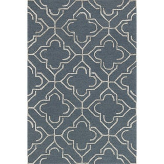 "Hand-hooked Carolyn Slate/ Taupe Rug (2'3 x 3'9) - 2'3"" x 3'9"""