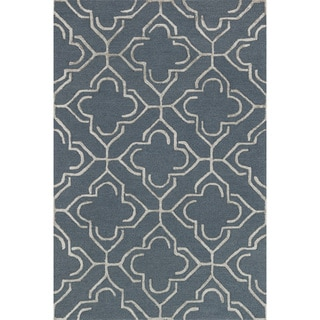 "Hand-hooked Carolyn Slate/ Taupe Rug (7'6 x 9'6) - 7'6"" x 9'6"""
