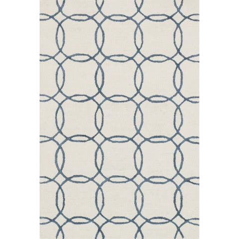 "Alexander Home Carolyn Hand-hooked Geometric Wool Rug - 2'3"" x 3'9"""