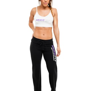 MissFit Activewear Women's White Spaghetti Strap Sports Bra