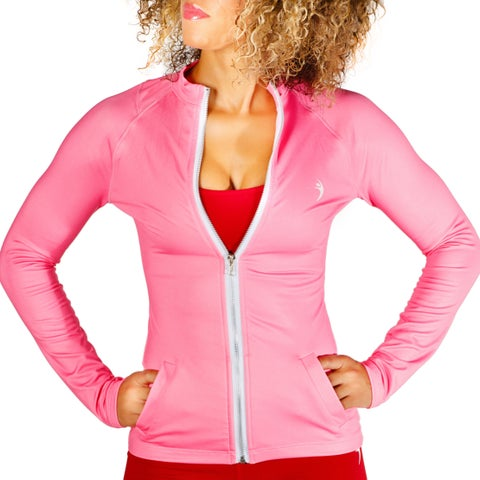 MissFit Activewear Women's Pink Athletic Jacket
