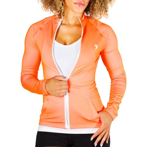 MissFit Activewear Women's Orange Athletic Jacket