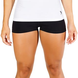 MissFit Activewear Women's Black Cheeky Shorts|https://ak1.ostkcdn.com/images/products/10433335/P17531025.jpg?impolicy=medium