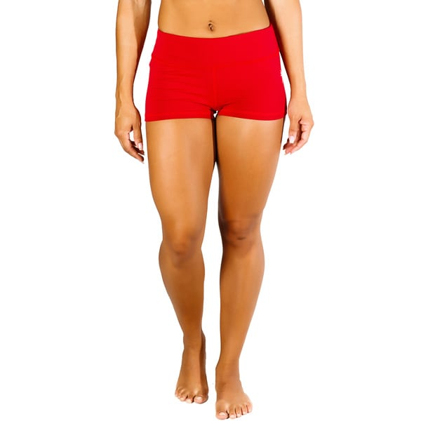 Shop MissFit Activewear Women s Red Cheeky Shorts - On Sale - Free Shipping  On Orders Over  45 - Overstock - 10433339 fbde34171