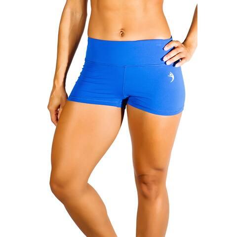 MissFit Activewear Women's Blue Cheeky Shorts