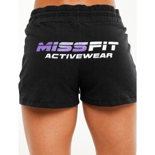 MissFit Activewear Women's Black Fleece Shorts