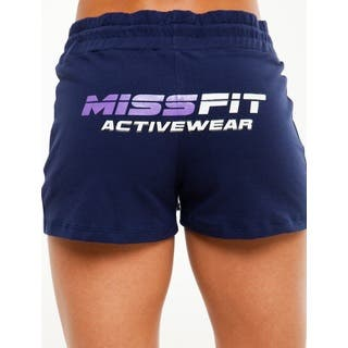 MissFit Activewear Women's Blue Fleece Shorts|https://ak1.ostkcdn.com/images/products/10433355/P17531165.jpg?impolicy=medium