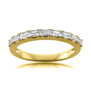 Montebello 14k Gold 1/2ct TDW Baguette Cut White Diamond Wedding Band (4 options available)