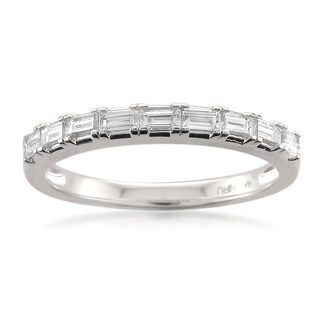Montebello 14k Gold 1/2ct TDW Baguette Cut White Diamond Wedding Band (More options available)