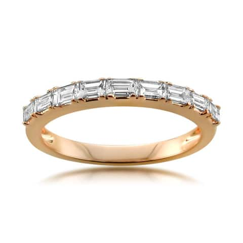 Montebello 14KT Gold 1/2ct TDW Baguette-cut Diamond Wedding Band