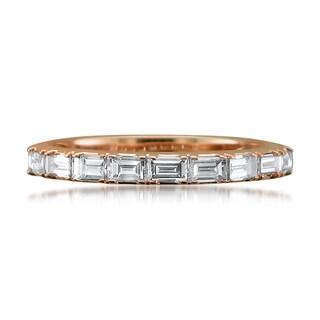 Montebello 14k Gold 1/2ct TDW Baguette-cut White Diamond Wedding Band (G-H, VS1-VS2)