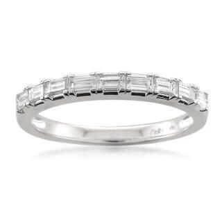 Montebello 14k Gold 1/2ct TDW Baguette Cut White Diamond Wedding Band|https://ak1.ostkcdn.com/images/products/10433402/P17531175.jpg?impolicy=medium