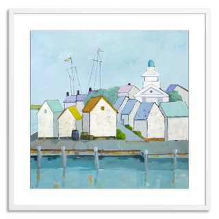 Gallery Direct Phyllis Adams 'At the Harbor' Paper Framed
