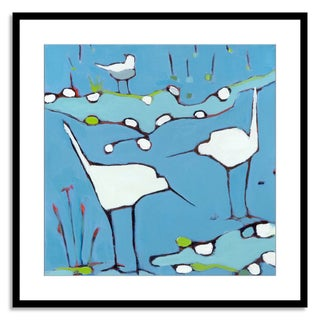 Gallery Direct Phyllis Adams 'The Waders' Paper Framed
