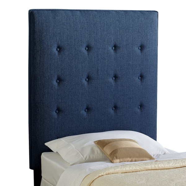 Humble Haute Brighton Navy Blue Twin Upholstered Tufted Headboard