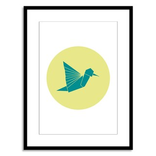 Gallery Direct New Era Originals 'Animal Origami, Hummingbird' Paper Framed
