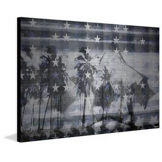 """Parvez Taj - """"Many White Stars"""" Print on Brushed Aluminum"""